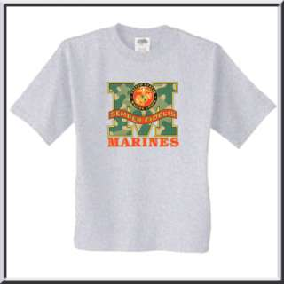 Marines Camouflage Camo M Military T Shirt 4X,4XL, & 5X