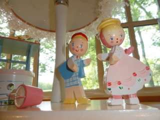 Vtg~IRMI~Nursery Rhyme~Baby~Child~Wood~Wooden~Lamp & Night Light w