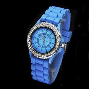 Color Fashion Jelly Quartz Unisex Silicone Wrist Watch Watches