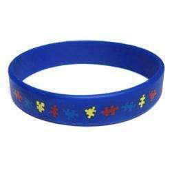 Autism Awareness Puzzle Pieces Wristband   Youth Sized (7)