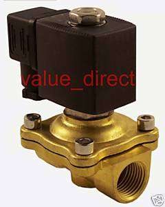 Brass Electric Solenoid Valve NPT Gas Water 24 VDC