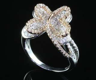 14KG Butterfly Design Diamond Ring One of a Kind
