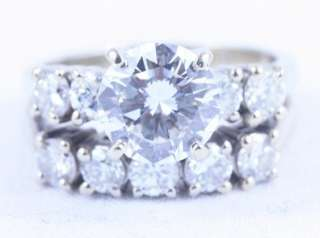 21k Fused 10 DIAMOND 14k White Gold Wedding Ring Set 3.3tct Round