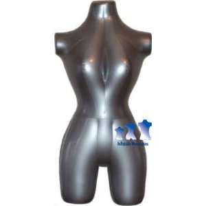 Inflatable Mannequin, Female 3/4 form, Silver