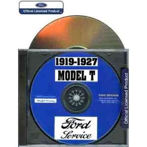 1919 1927 MODE T FORD SERVICE MANUAL ON CD ROM: Books