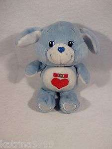 2002 CareBear cousin Loyal heart medal tummy light blue 8 plush toy