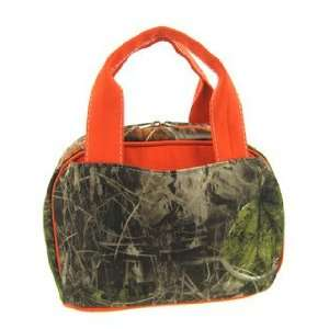 Orange Camo Camouflage Insulated Lunch Bag Box: Kitchen & Dining