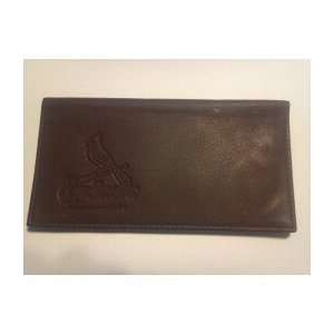St Lewis Cardinals Chocolate Brown Leather Embossed