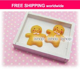 14 pcs Gingerbread Man Christmas Resin Cabochon 6003 0140