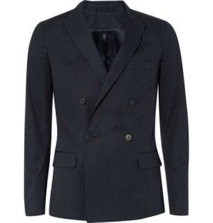 Blazers  Single breasted  Double Breasted Pinstriped Suit Jacket