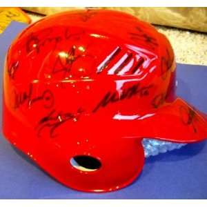 2010 Team Autographed / Signed Batting Helmet   Autographed MLB