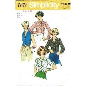Simplicity 6161 Sewing Pattern Misses Blouse Size 14