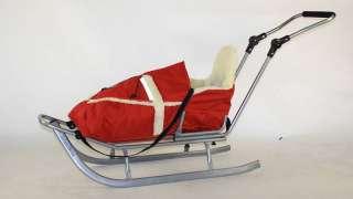 Schlitten Kinderschlitten Baby + Winterfußsack + Lehne