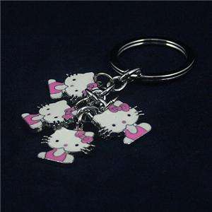 Enamel Hello Kitty Pendant Keychain Key Ring Fob kkt32