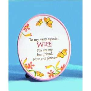 Pink Message Plaque for Wife: Home & Kitchen