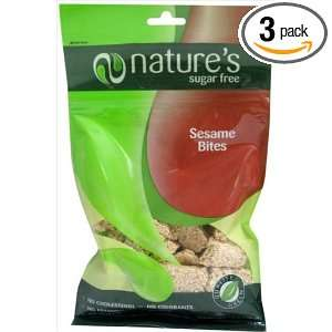 Natures Sugar Free Sesame Kosher Snack (Pack of 3)
