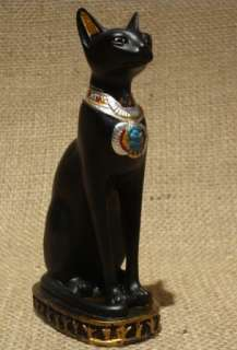 Large EGYPTIAN BASTET CAT STATUE figurine museum