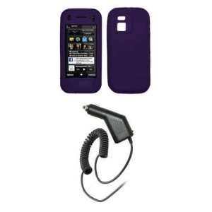 Premium Purple Soft Silicone Gel Skin Cover Case + Rapid