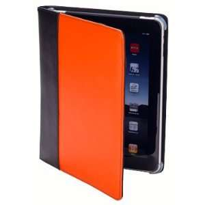 IC 1040OB Leather iPad Cover/Case (Orange/Black) Electronics