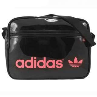 Adidas AC Airline Pat Bag Tasche Schwarz Pink