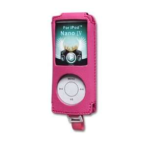 LEATHER Case LC002 IPOD NANO4 HOT PINK Cell Phones & Accessories
