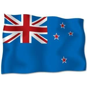 NEW ZEALAND Flag car bumper sticker decal 6 x 4