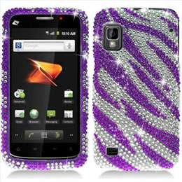 Pink Zebra Bling Hard Case Cover for Boost Mobile ZTE Warp N860