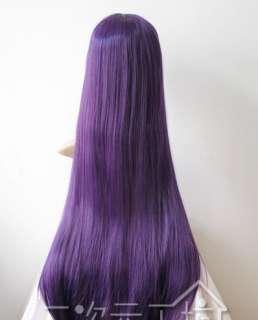 NEW Long Dark Purple Cosplay Party Wigs 100cm+wig cap