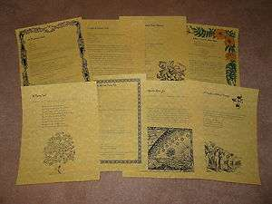 Book of Shadows Pages Set of 8 Make Money Spells