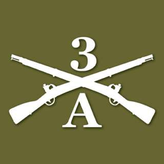 3rd US Infantry The Old Guard A Co Vinyl Decal Sticker