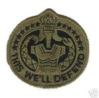US ARMY DRILL SERGEANT DI OD SUBDUED PATCH