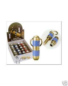 Techno Metal Key Ring Cigar Punch Cutter Blue New