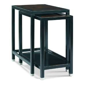 Nest of Tables by Sherrill Occasional   CTH   Black & Tan