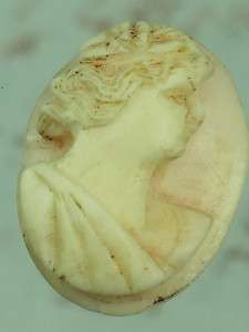 ANTIQUE PINK CONCH SHELL HAND CARVED CAMEO