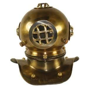 Mark V Brass Dive Helmet: Navy Diver Display:  Home