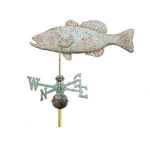 Good Directions Bass Full Size Weathervane Patio, Lawn