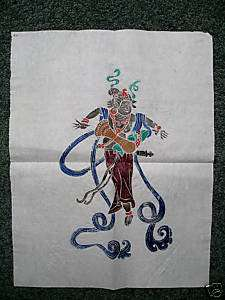 Chinese Tibetan Temple Rubbing Art Rice Paper 13x17RARE