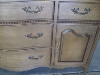 French Provincial Dining Table Chair Server and Buffet Set