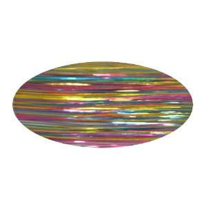 Piz Zaz Hair Glimmer Tinsel Pastel Rainbow Extensions + Hair Art Pin
