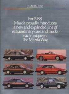 1988 Mazda Line Sales Brochure Book 929 626 323 B2000