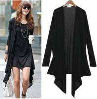 Womens Trendy Knit Asym Hem Long Slevee Cardigan Top Sweater Jacket