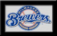 MILWAUKEE BREWERS LOGO   Cross Stitch Patterns/Kits