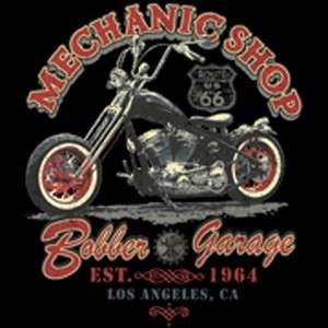 MECHANIC SHOP LOS ANGELES CHOPPER T SHIRT