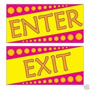 Enter and Exit Sign Decal Graphic