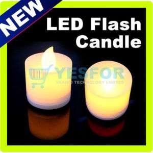 LED Flash Candle Yellow Light Lamp Electronic Flameless