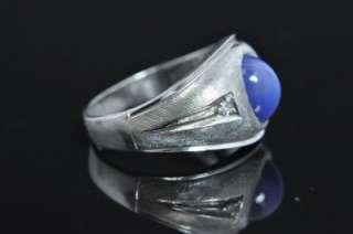Linde Lindy Star Sapphire 14K White Gold Diamond Ring