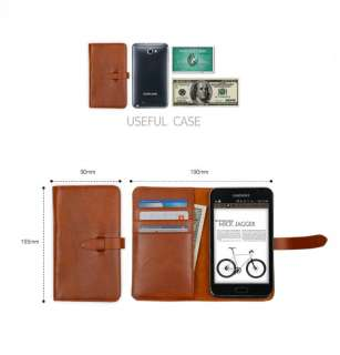 SAMSUNG GALAXY NOTE PHONE FLIP COVER CASE N7000 i9220 i717BROWN