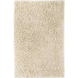 KAS Palm Springs Shag Wool Rug   Winter White (5x8)