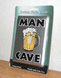 Man Cave Light Switch Cover New