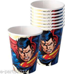 SUPERMAN ~ Super Hero Party Supplies ~ 9 oz CUPS 726528175203